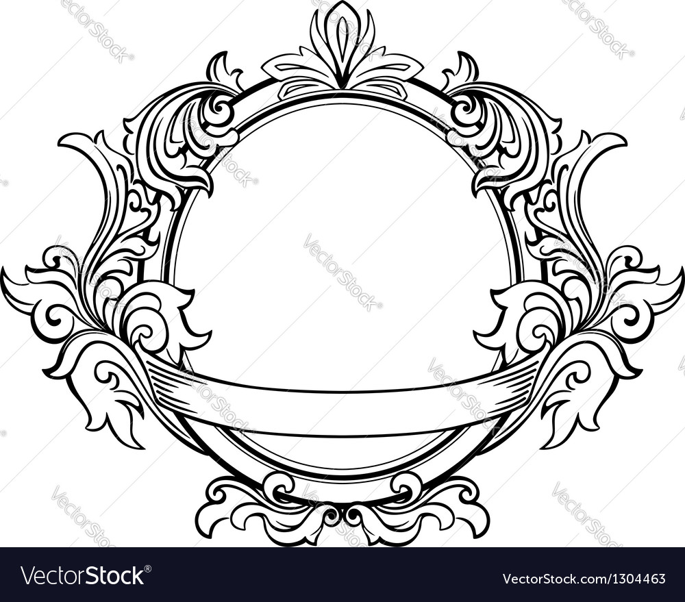 Retro frame with decorative floral elements vector | Price: 1 Credit (USD $1)