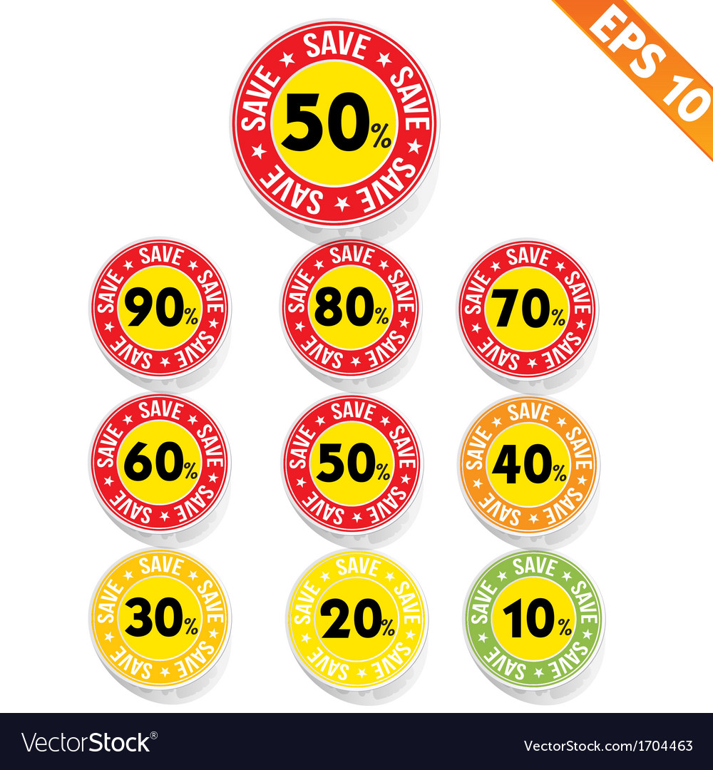 Sale percent sticker price tag - - eps10 vector | Price: 1 Credit (USD $1)