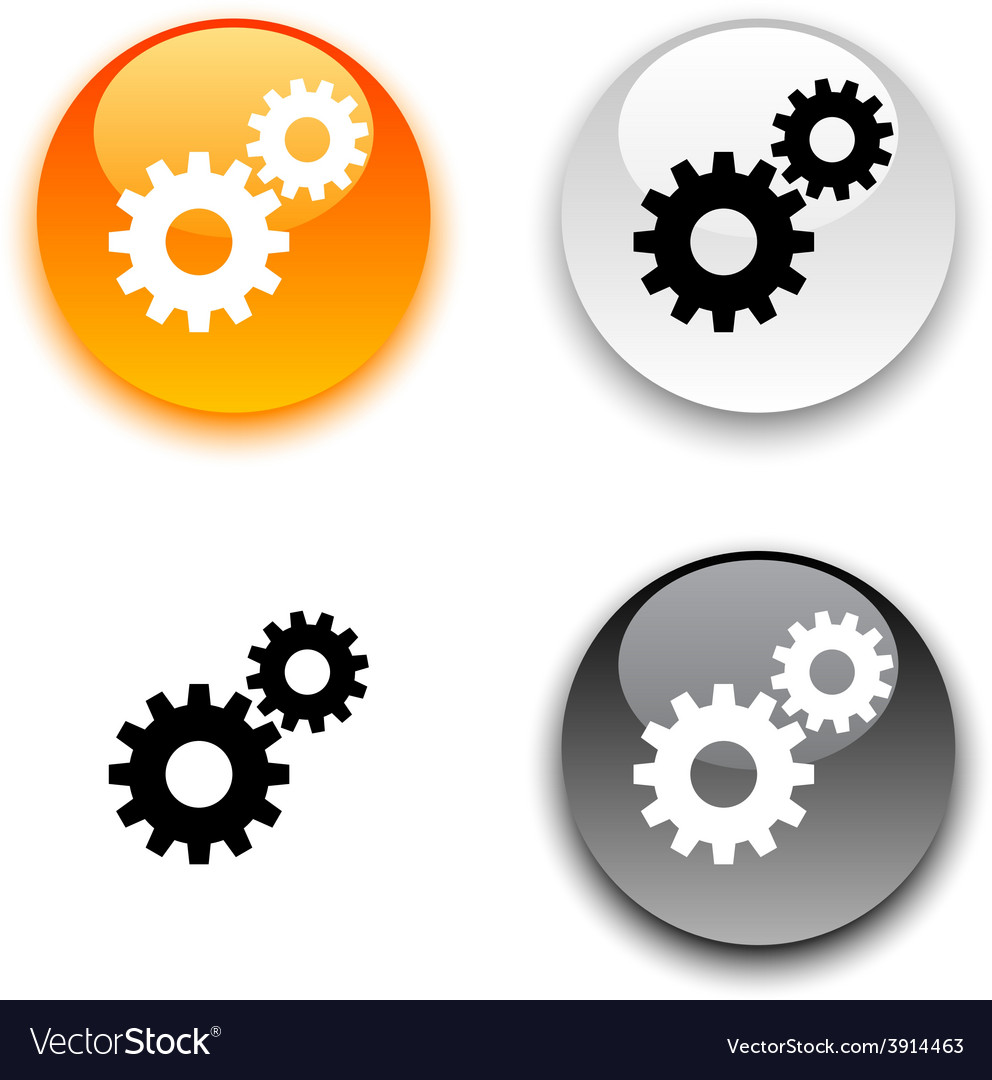 Settings button vector | Price: 1 Credit (USD $1)