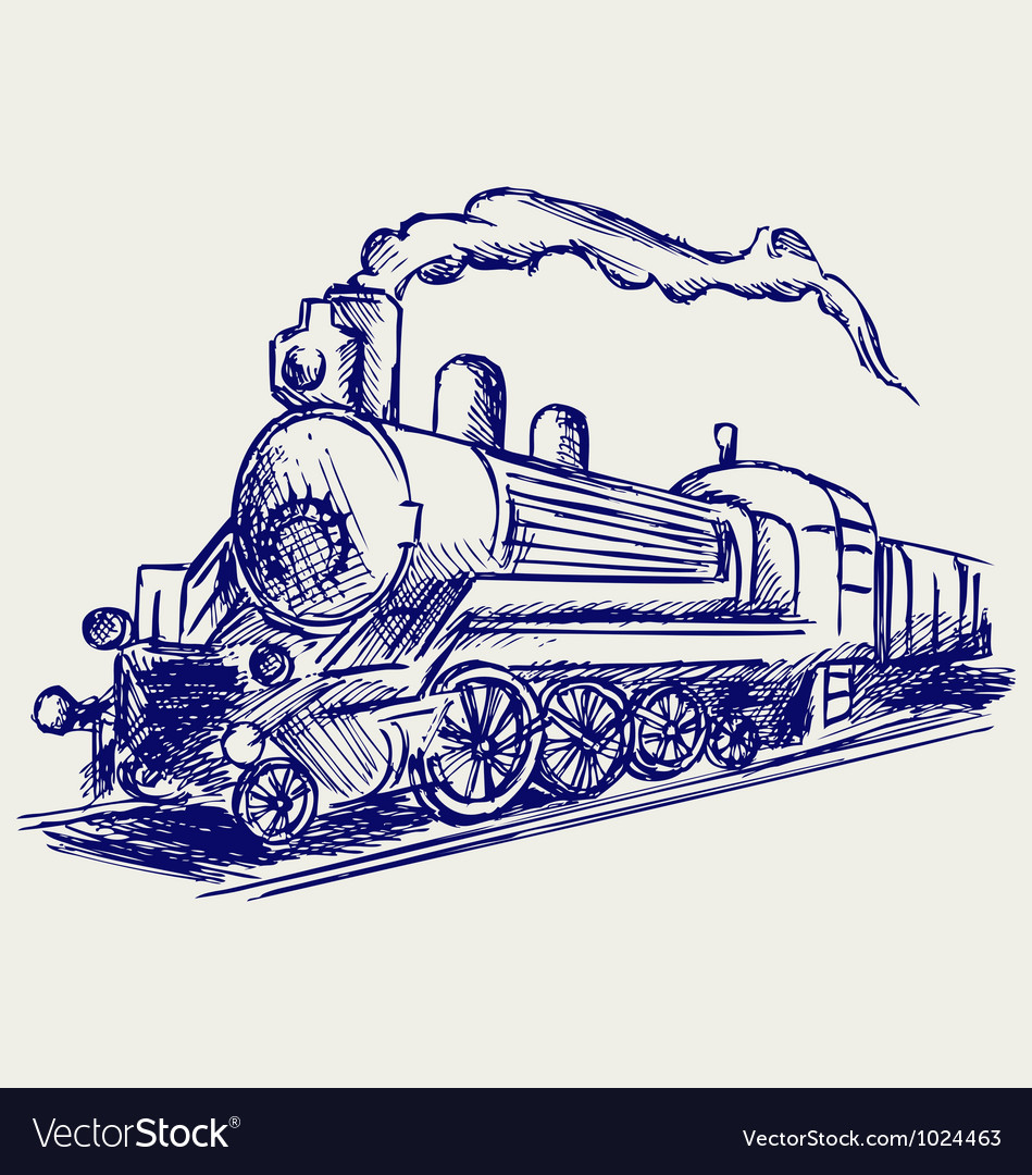 Steam train with smoke vector | Price: 1 Credit (USD $1)