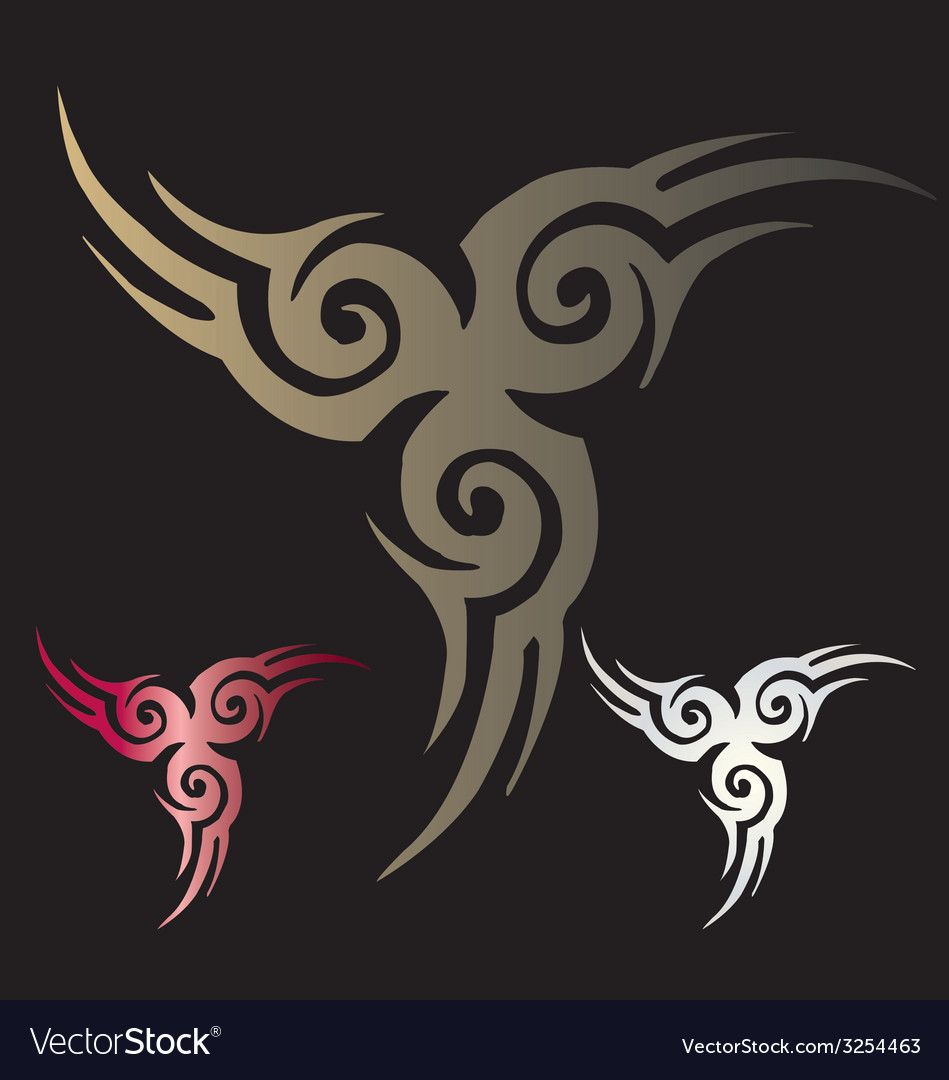 Stylized angel wings vector | Price: 1 Credit (USD $1)