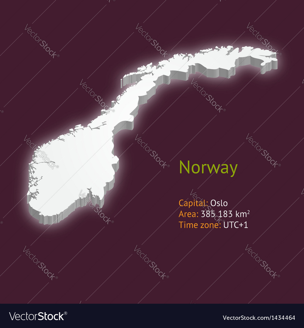 3d map of norway vector | Price: 1 Credit (USD $1)