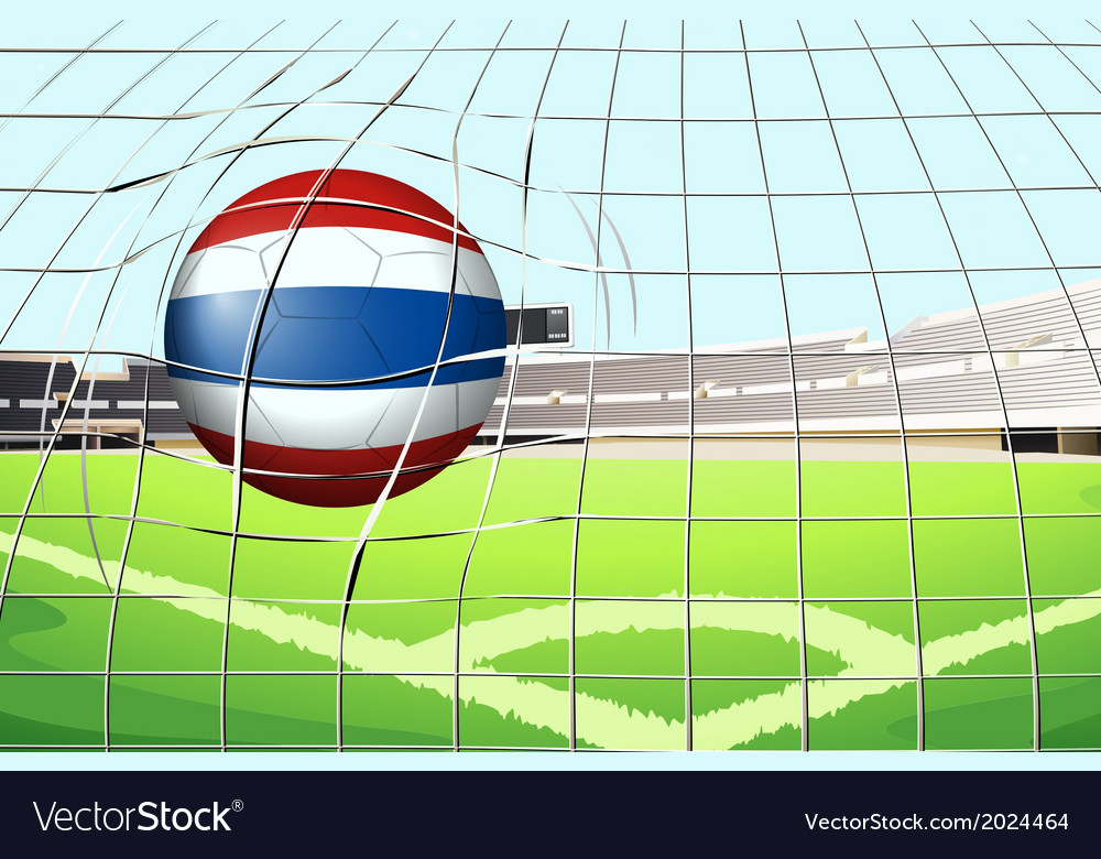 A ball from thailand hitting a score vector | Price: 3 Credit (USD $3)
