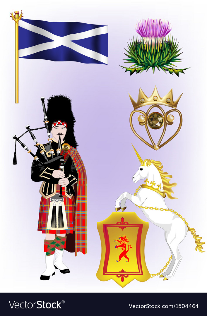 A collection of scotland vector | Price: 1 Credit (USD $1)