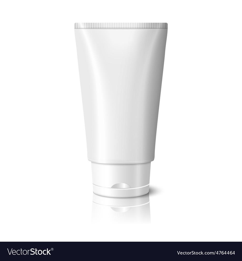 Blank white realistic tube for cosmetics cream vector | Price: 3 Credit (USD $3)