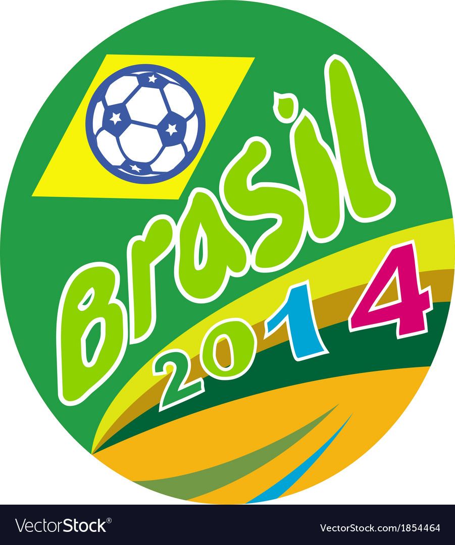Brasil 2014 soccer football ball oval vector | Price: 1 Credit (USD $1)