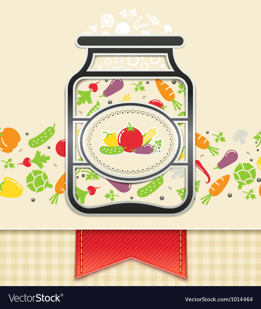 Can with canned vegetables vector | Price: 1 Credit (USD $1)