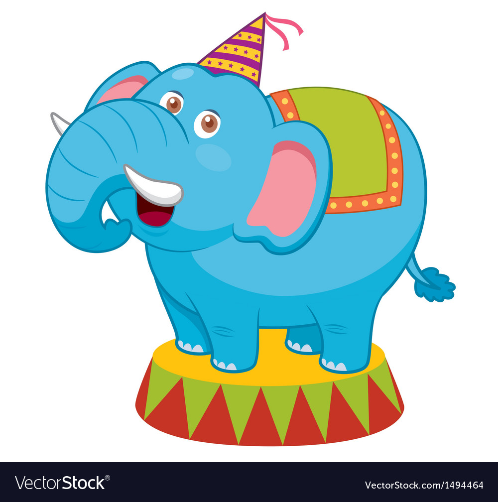 Elephant circus vector | Price: 1 Credit (USD $1)