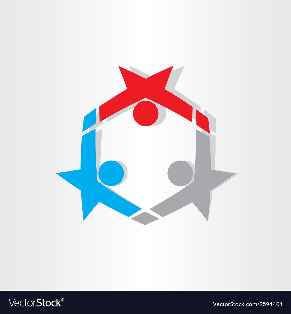 People dancing celebration icon vector | Price: 1 Credit (USD $1)