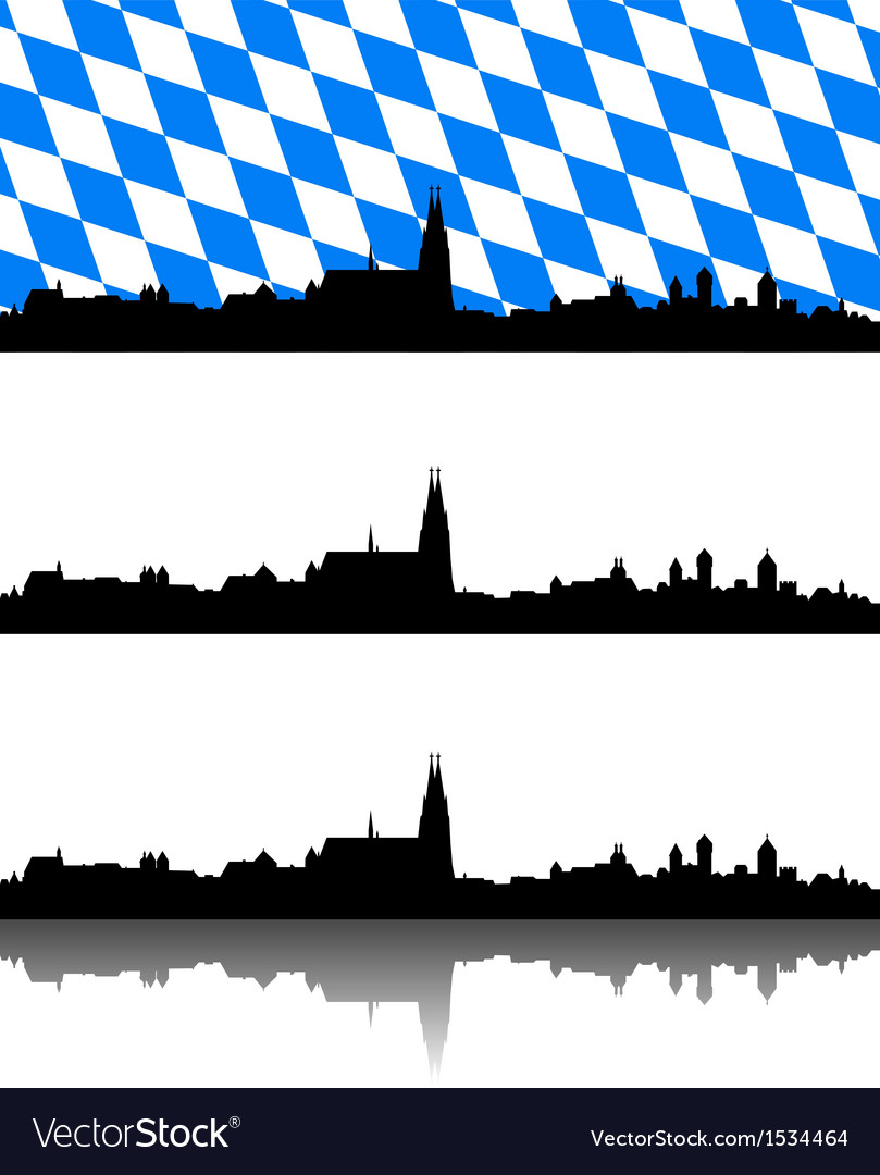 Silhouette of regensburg bavaria vector | Price: 1 Credit (USD $1)