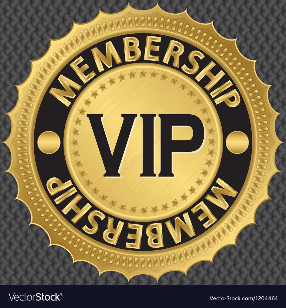 Vip membership golden label vector | Price: 1 Credit (USD $1)