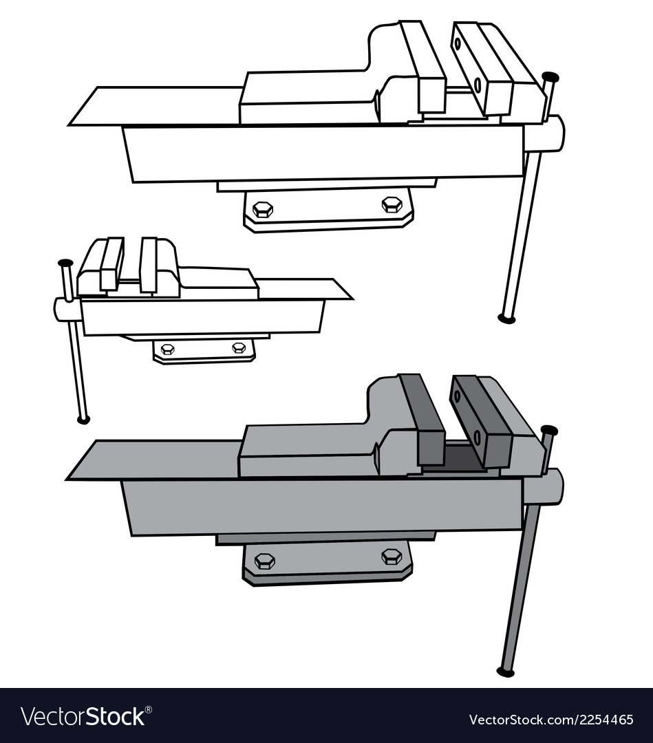 Bench vise vector | Price: 1 Credit (USD $1)
