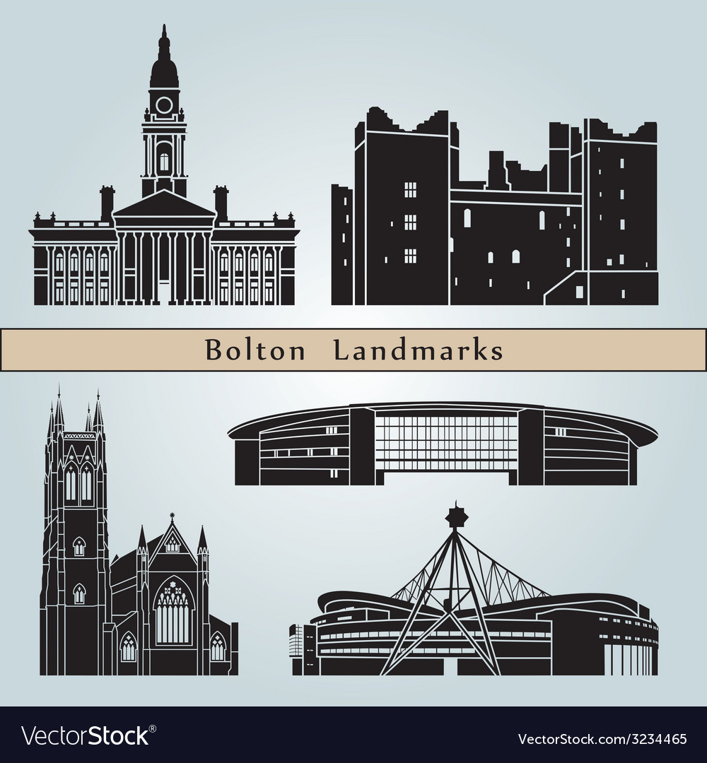 Bolton landmarks and monuments vector   Price: 1 Credit (USD $1)