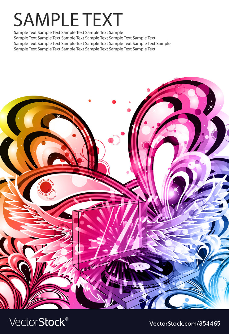 Colorful music poster vector | Price: 1 Credit (USD $1)