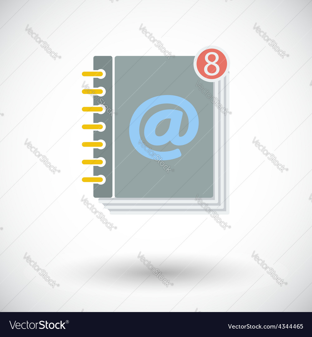 Contact book single icon vector | Price: 1 Credit (USD $1)