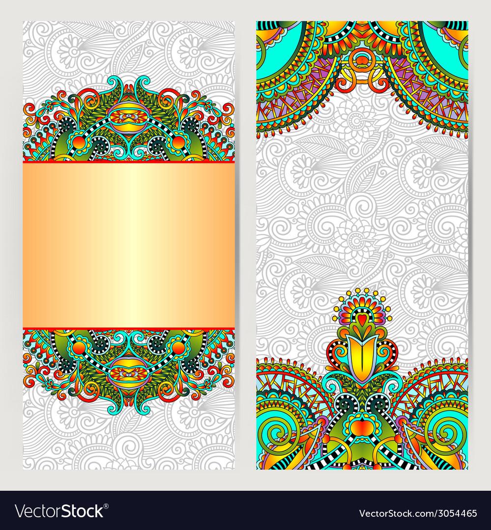 Decorative label card for vintage design ethnic vector | Price: 1 Credit (USD $1)