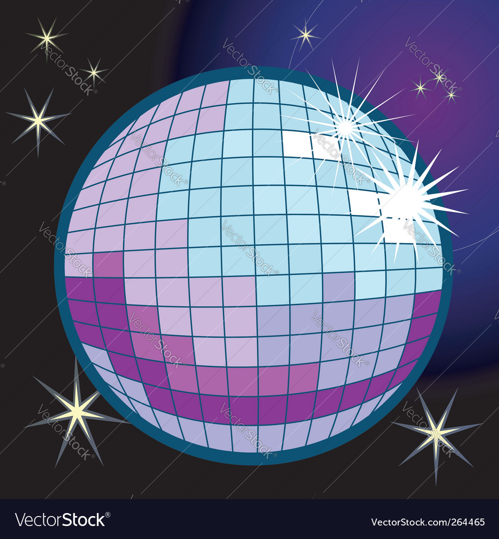 Disco ball illustration vector | Price: 1 Credit (USD $1)