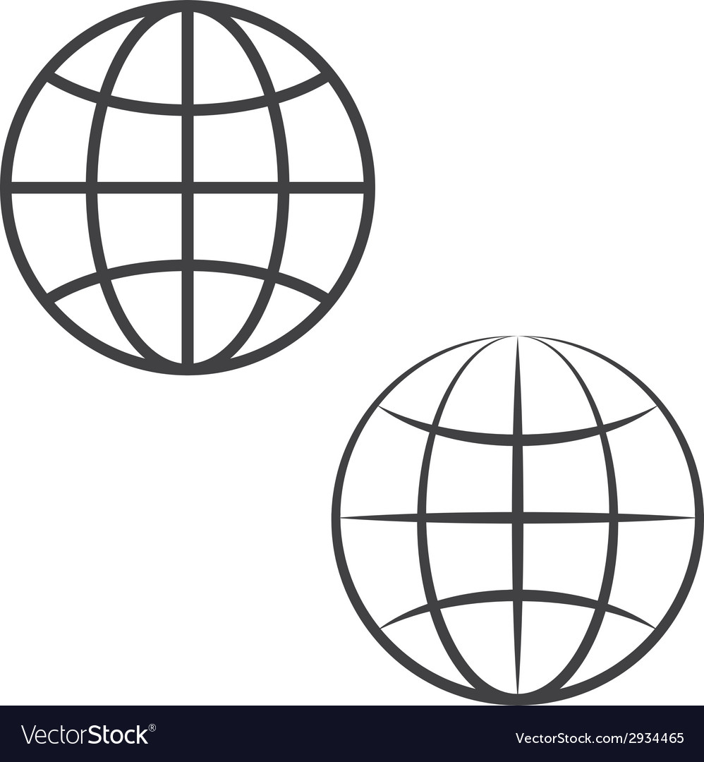 Earth globe icons vector | Price: 1 Credit (USD $1)