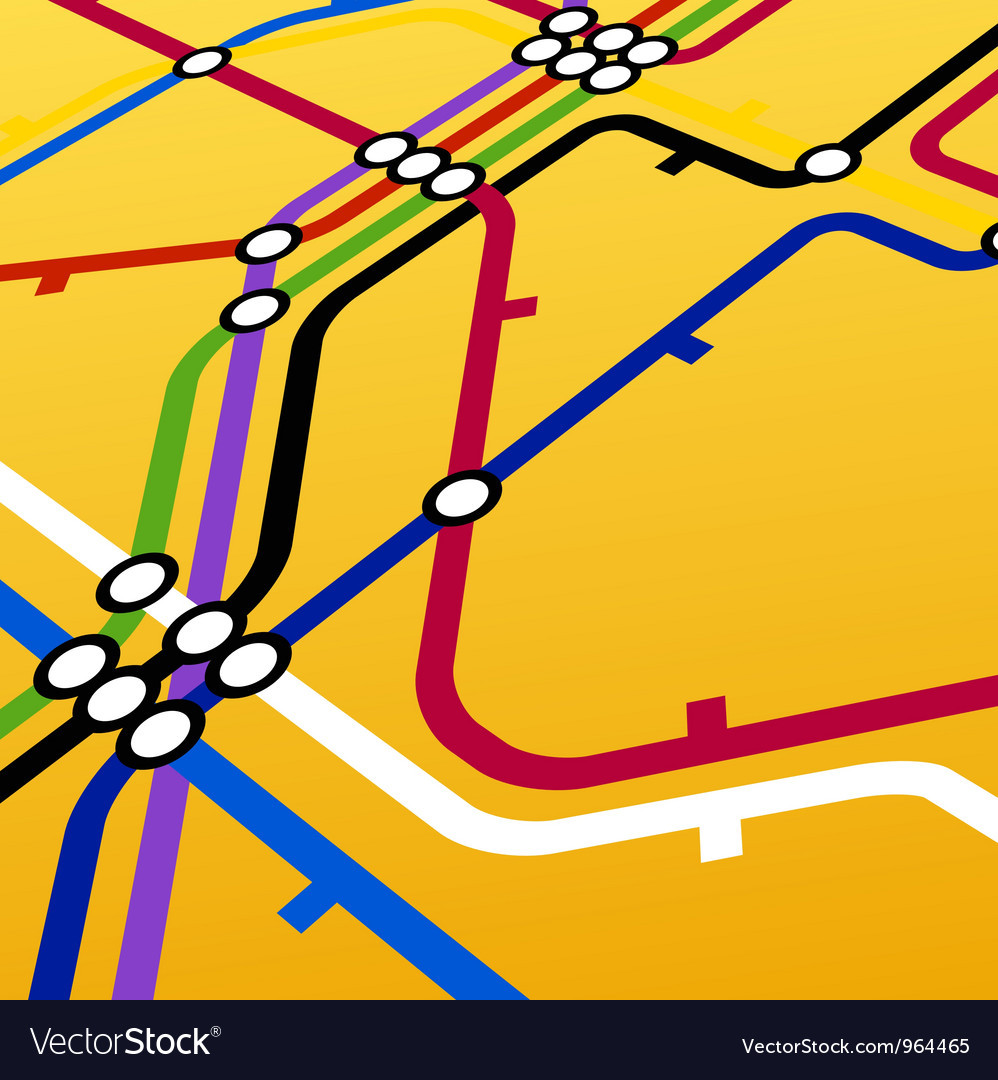Metro scheme on yellow vector | Price: 1 Credit (USD $1)