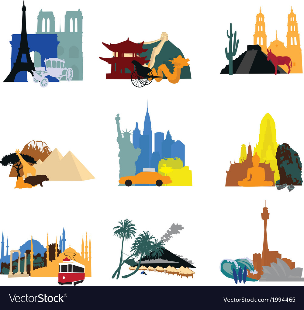 Miniatures different countries vector | Price: 1 Credit (USD $1)