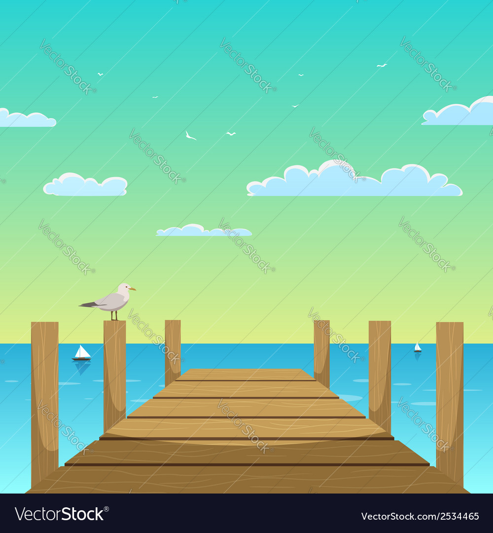 Pier vector | Price: 3 Credit (USD $3)