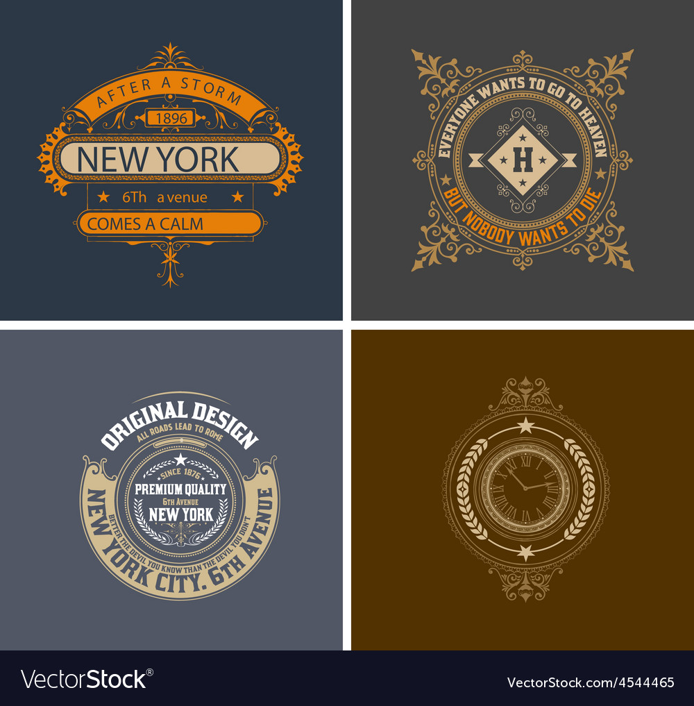 Retro cards business sign identity for vector | Price: 1 Credit (USD $1)
