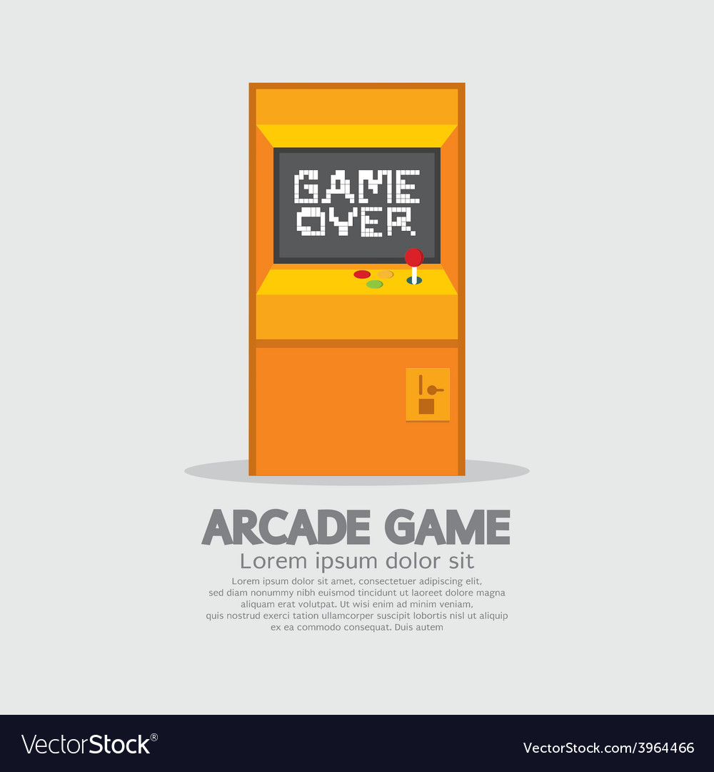 Arcade machine vector | Price: 1 Credit (USD $1)