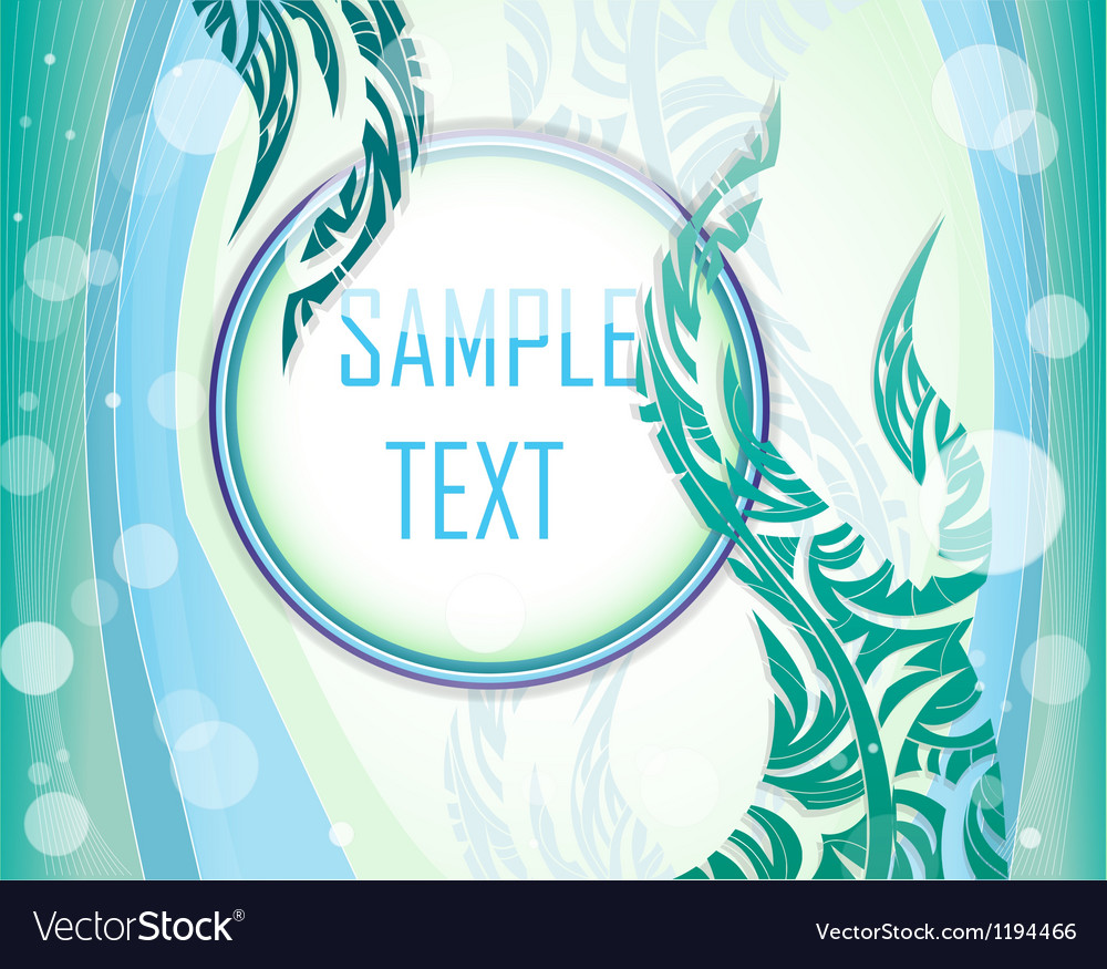 Blue and green layout vector | Price: 1 Credit (USD $1)