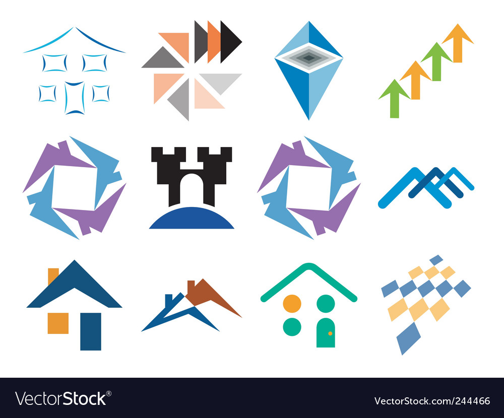 Building themed design vector | Price: 1 Credit (USD $1)
