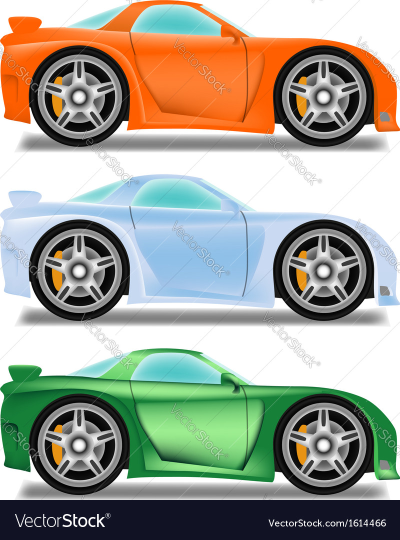 Cartoon racecar vector | Price: 1 Credit (USD $1)