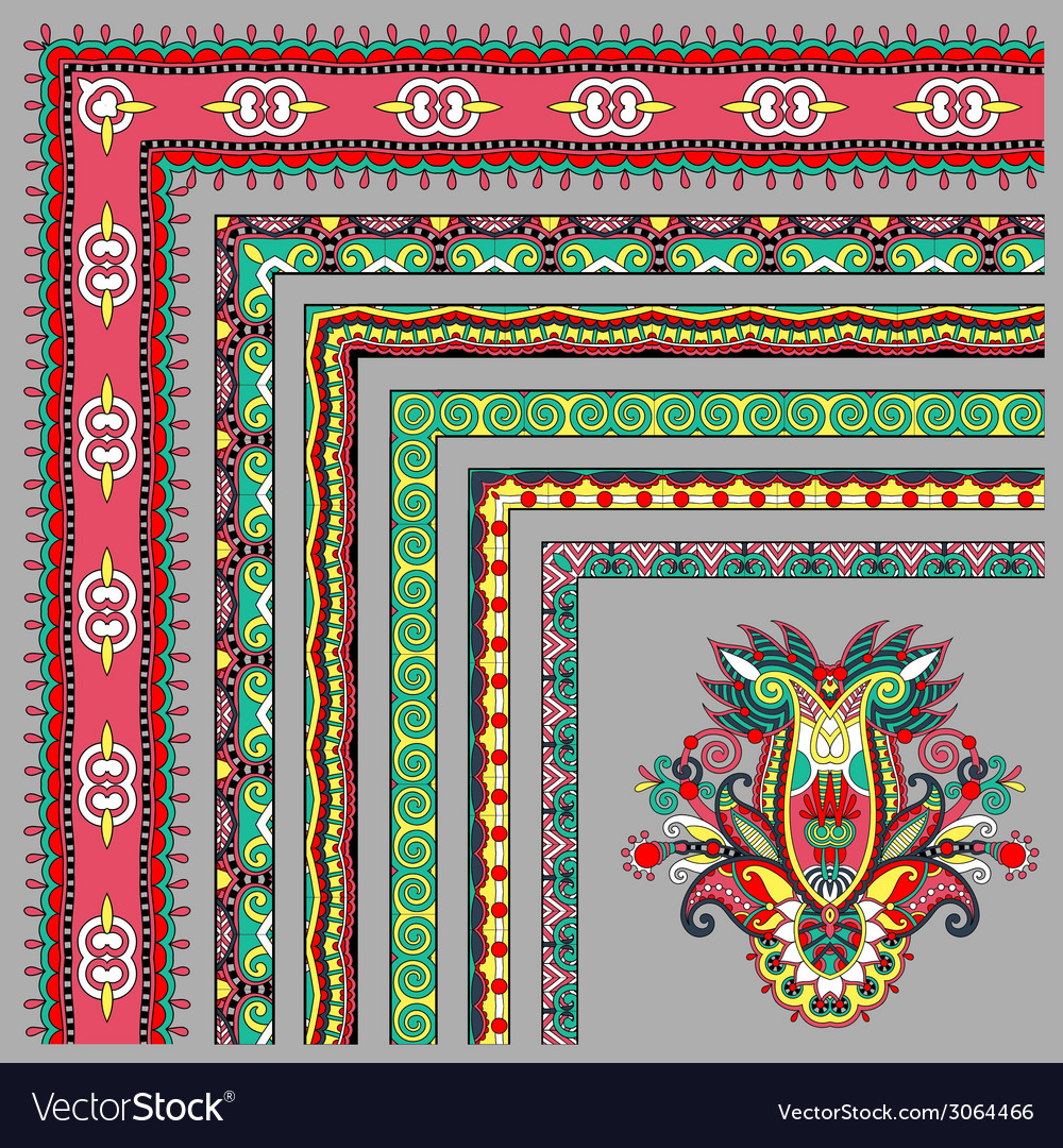 Collection of ornamental floral vintage frame vector | Price: 1 Credit (USD $1)