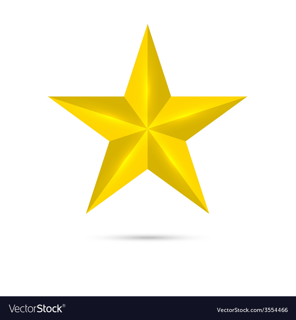 Golden shiny glossy star vector | Price: 1 Credit (USD $1)