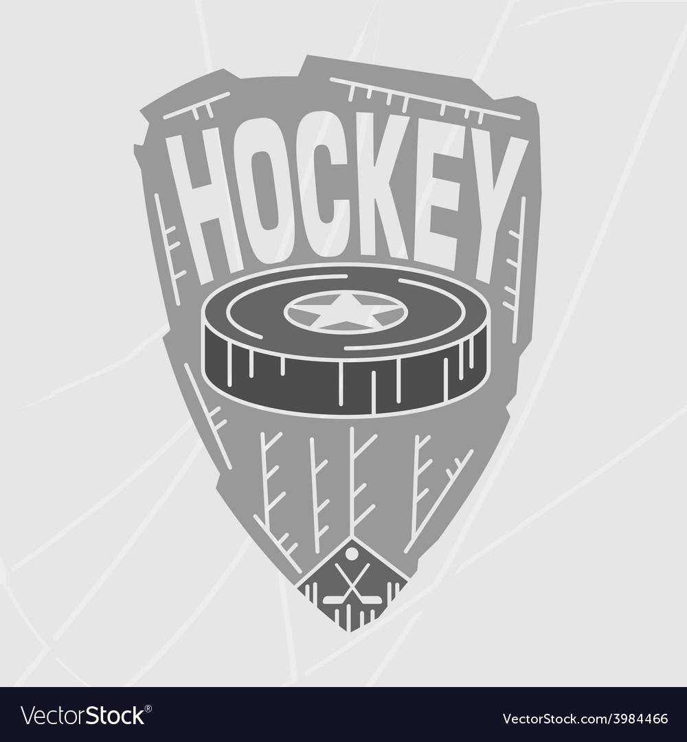 Hockey emblem monochromevs vector   Price: 1 Credit (USD $1)