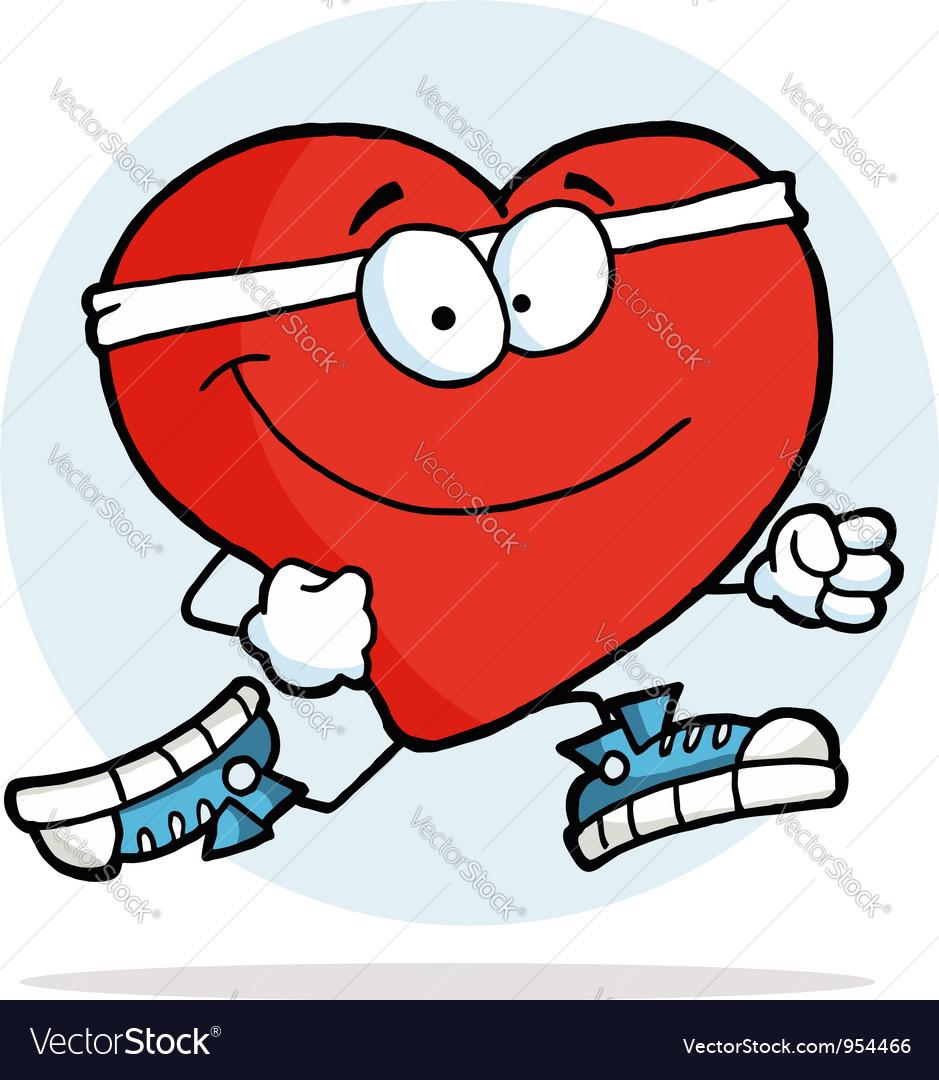 Jogging heart vector | Price: 1 Credit (USD $1)