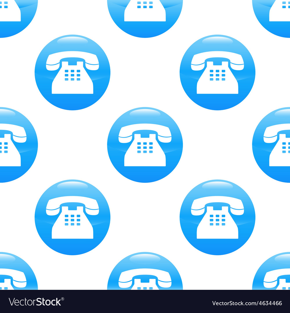 Old phone sign pattern vector | Price: 1 Credit (USD $1)