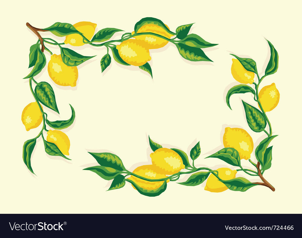Stylized lemon corner frame vector | Price: 1 Credit (USD $1)