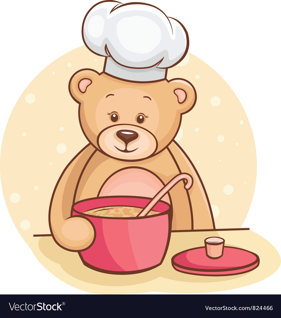 Teddy bear chef vector | Price: 1 Credit (USD $1)