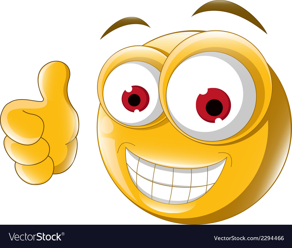 Thumb up emoticon for you design vector | Price: 1 Credit (USD $1)