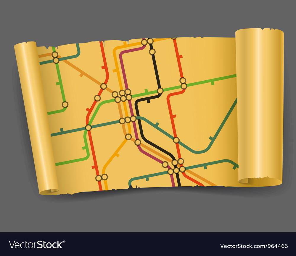 Vintage metro scheme vector   Price: 1 Credit (USD $1)