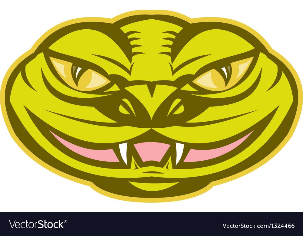 Viper snake serpent head vector | Price: 1 Credit (USD $1)