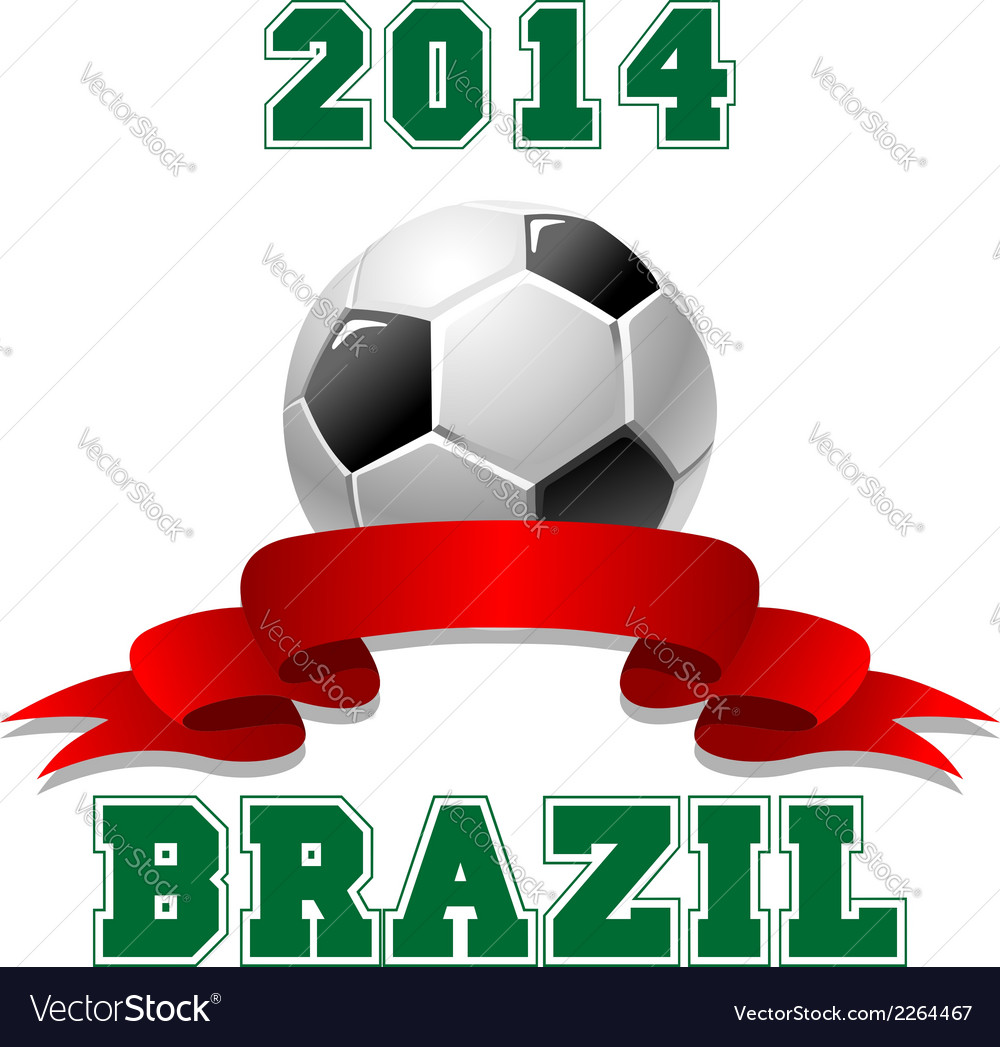 2014 brazil soccer emblem vector | Price: 1 Credit (USD $1)