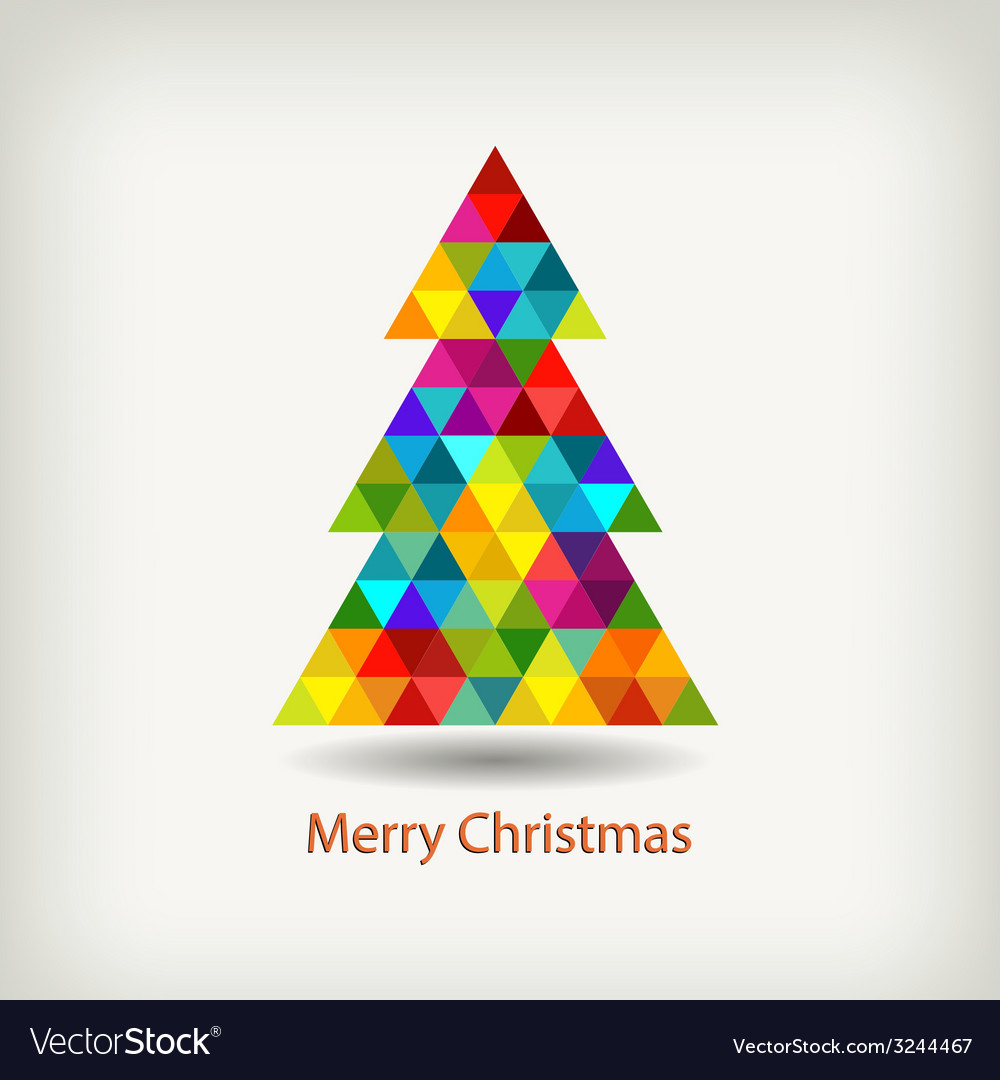 Christmas tree in rainbow colors vector | Price: 1 Credit (USD $1)