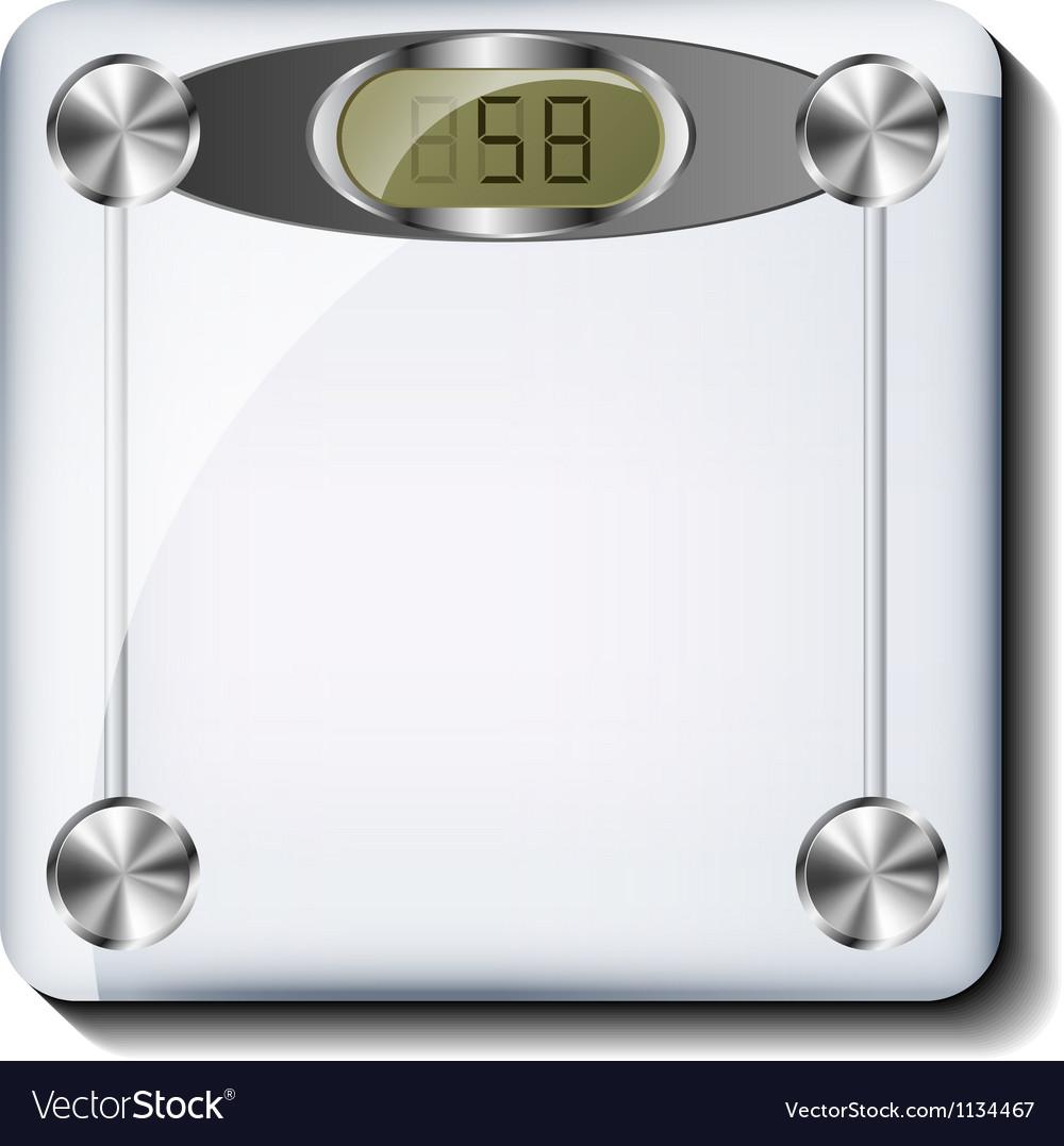 Digital bathroom scale vector | Price: 1 Credit (USD $1)