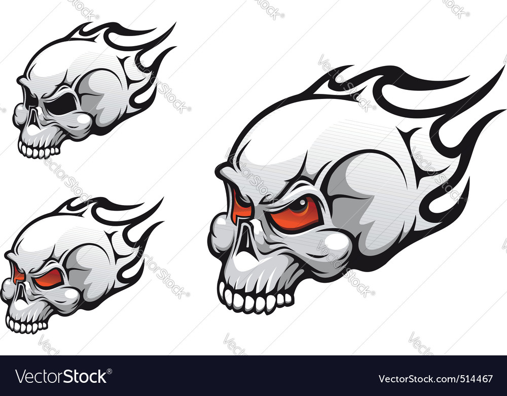 Evil skulls vector | Price: 1 Credit (USD $1)