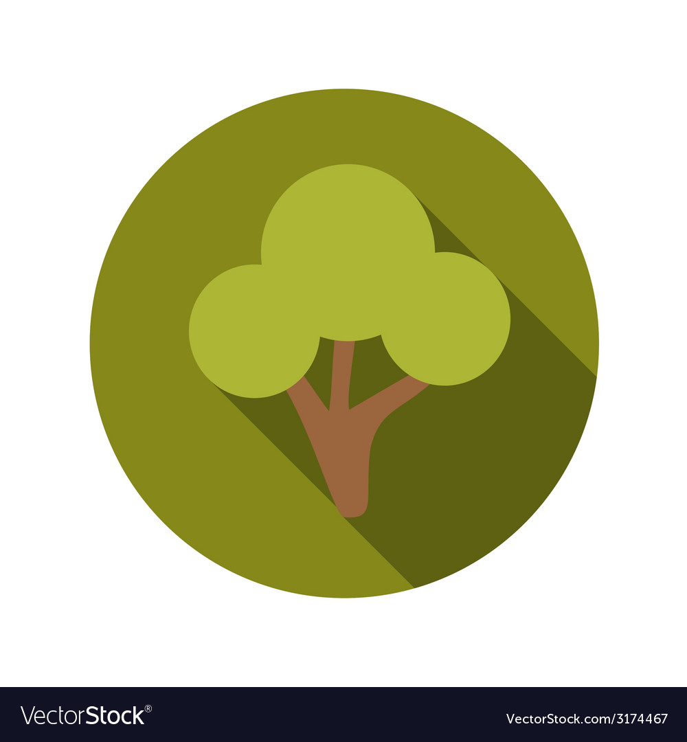 Flat design concept green tree with long sha vector | Price: 1 Credit (USD $1)