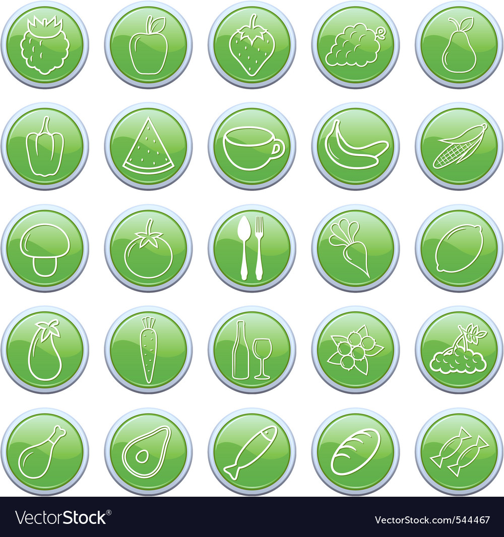 Food buttons vector | Price: 1 Credit (USD $1)