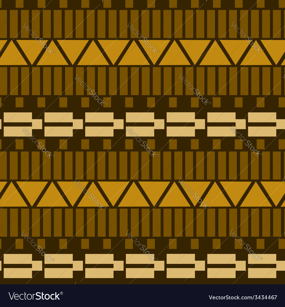 Geometric ethnic seamless pattern vector | Price: 1 Credit (USD $1)