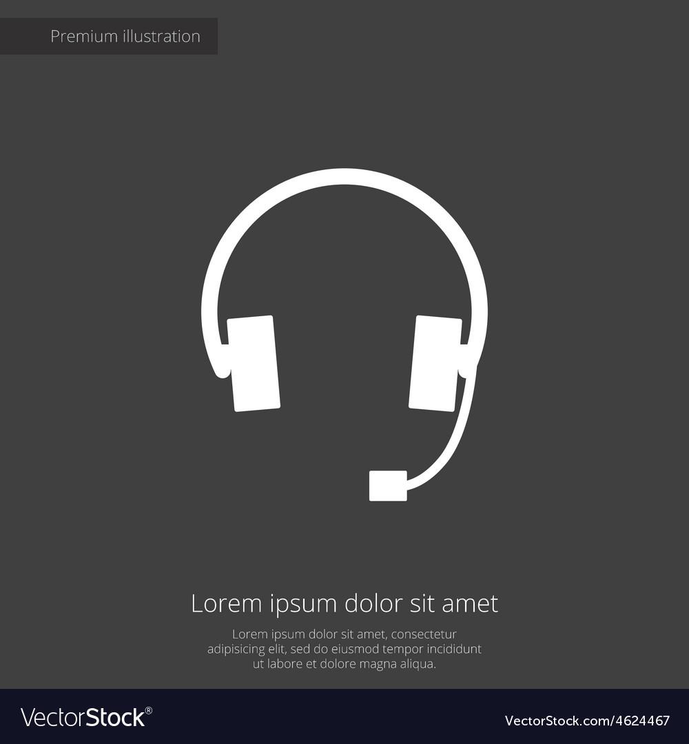 Headphones premium icon vector | Price: 1 Credit (USD $1)