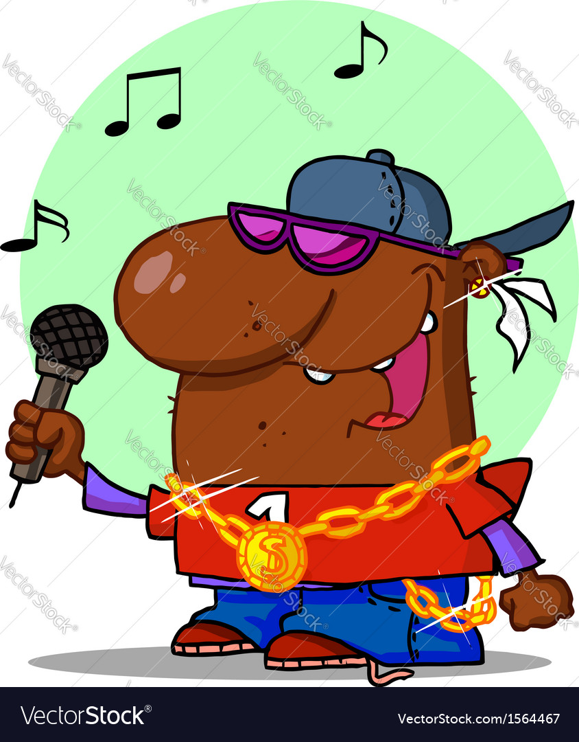 Hip hop cartoon vector | Price: 1 Credit (USD $1)