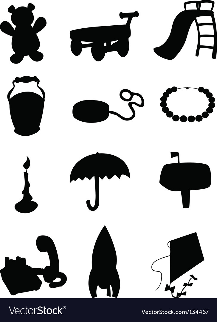 Object silhouettes vector | Price: 1 Credit (USD $1)